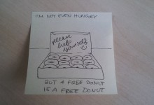 A free donut.