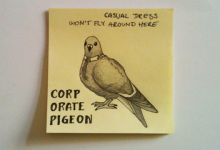 corporate pigeon.